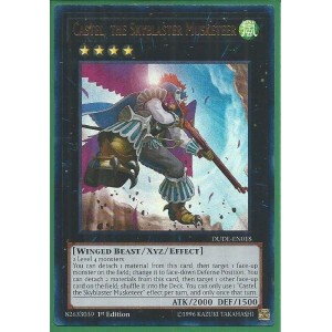 DUDE-EN018	Castel, the Skyblaster Musketeer - Ultra Rare