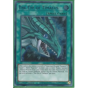 DLCS-EN007B The Eye of Timaeus – Ultra Rare BLUE