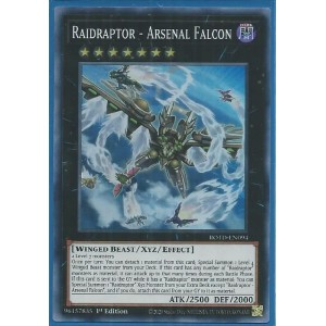 ROTD-EN094 Raidraptor – Arsenal Falcon – Super Rare |
